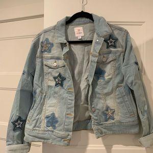 LuLaRoe custom denim jacket